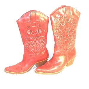 Penny loves Kenny red cowboy boots